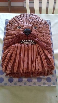 Top Star Wars Cakes - May the Celebration - Cake Central Chewbacca Cake Bolo Star Wars, Star Wars Food, Star Wars Cake, Star Wars Birthday Cake, Birthday Cakes, Star Wars Cupcakes, Birthday Ideas, Aniversario Star Wars, Cute Cakes