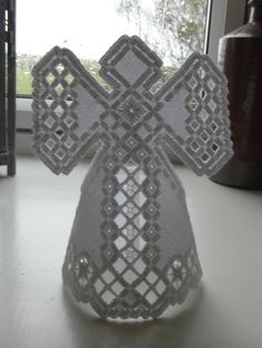 Hardanger Angel - pattern found on Pinterest but did a few changes to it :)