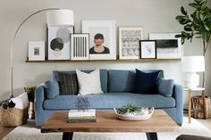 Super living room shelves above couch picture ledge ideas Shelves Over Couch, Living Room Shelves, Living Room Sofa, Home Living Room, Living Room Furniture, Living Room Designs, Living Room Decor, Shelf Behind Couch, Art Over Couch