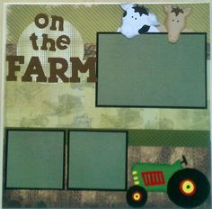 On the Farm 12x12 premade scrapbook layout page by ohioscrapper, $15.00