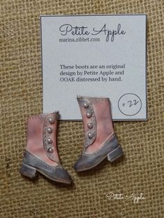 Blythe doll boots - OOAK distressed