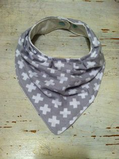 BundleB's $8.00 Baby Bib. Bandana Bib. Teething Bib. Drooling Bib. Grey Plus Signs. Flannel. KAM Snaps *If item is sold out, request a custom order and I might still have the fabric in stock!