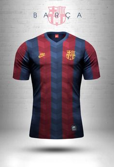 Adidas Originals and Nike Sportswear jersey design concepts using geometric patterns. Sports Uniforms, Football Uniforms, Football Jerseys, Camisa Barcelona, Fc Barcelona, Soccer Kits, Football Kits, American Football, Camisa Retro