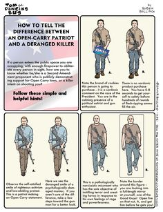 Finally! How to Tell the Difference Between an Open-Carry Patriot and a Deranged Killer (Image)