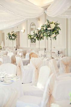 White Classic Hollywood Glamour Wedding