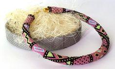 Items similar to Bead crochet bracelet - Seed beads crochet rope - Beaded bangle - Light sapphire gold bracelet - Trendy pantone colors - Boho jewelry on Etsy Crochet Beaded Bracelets, Bead Crochet Rope, Crochet Necklace, Boho Jewelry, Beaded Jewelry, Handmade Jewelry, Women Jewelry, Jewellery, Beaded Collar