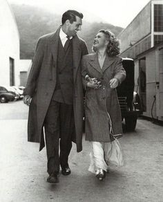 "oldhollywood-mylove:  """" Cary Grant and Priscilla Lane on the set of Arsenic and Old Lace (1944)  "" """