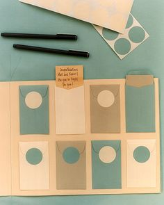 This is a guest book idea from MarthaStewart.com, but I think it would make a nice sentimental gift for a birthday, retirement, graduation, etc.