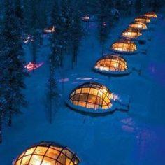 Noorwegen, Iglo om te genieten van noorderlicht