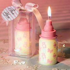 BABY BOTTLE CANDLE FAVORS by HerBabyshower