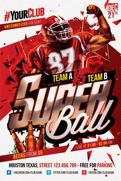 Super Bowl Flyer Template   Http://ffflyer.com/super Bowl