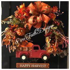 Fall Wreath $125  Pure Faith Designs  Facebook- Pure Faith Designs