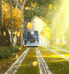 Tramway in İzmir Istanbul Turkey, Railroad Tracks, Train, City, Turkey Travel, Future, Future Tense, Cities, Strollers