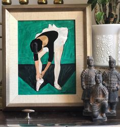 Excited to share this item from my shop: Ballerina by Birgit Forsell 1966 oil on canvas Sweden / original Scandinavian Art, Paper Weights, Art Deco Fashion, Chinoiserie, Hygge, Sweden, Ballerina, Oil On Canvas, Etsy Shop