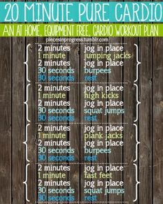 20 min cardio workout