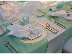 tiffany table linens