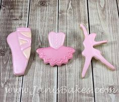 janisbakes | Girly Cookies  Ballet Shoe, Tutu, Ballerina Decorated Cookies