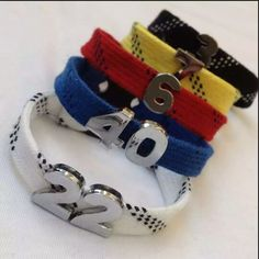 Your place to buy and sell all things handmade - Your place to buy and sell all things handmade Hockey Skate Lace Bracelet with Number Slider Charms Hockey Girls, Hockey Mom, Field Hockey, Hockey Teams, Hockey Players, Hockey Stuff, Hockey Girlfriend, Stars Hockey, Baseball Field