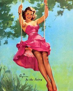 Gil Elvgren - In the Swing