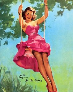 Gil Elvgren - In the Swing