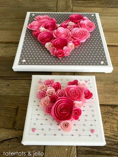 Valentine's Day is adorned with numerous craft specialties. Handmade crafts infuse Valentine's Day with a special color. Numerous easy-to-make craft … Valentine Day Love, Valentine Day Crafts, Holiday Crafts, Holiday Fun, Valentine Ideas, Saint Valentin Diy, Valentines Bricolage, Handmade Wedding Gifts, Happy Hearts Day