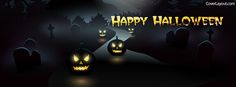Pumpkin Faces Happy Halloween Facebook Cover coverlayout.com