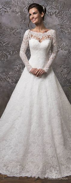 Amelia Sposa Wedding Dress Collection Fall 2018 #weddingdress