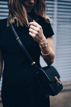 Celine Classic Box, Celine Box, Gold Fashion, Womens Fashion, Fashion Trends, Fashion Fashion, Runway Fashion, Fashion Online, Fashion Black