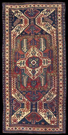 "Antique Karabagh ""Kasim Ushag"" rug, Elisabethpol Governorate (Елизаветпольская губерния), Zangezur Uyezd."