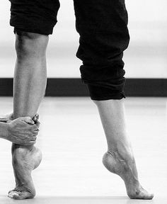 see dance students---there is a difference in a releve. Which one is giving it all and which one is doing just enough? There is NO HALF-BUTT WAY IN DANCING---it's ALL OR NOTHING!