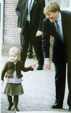 Willem-Alexander en Alexia bij de doop in Apeldoorn