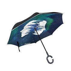 ac753d8981ed3 Gemini Pattern Double Layer Windproof UV Protection Reverse Folding  Umbrellas Self Stand Upside-Down Rain Protection Car Inverted Umbrella with  C Shaped ...