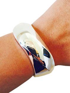 Fitbit Bracelet for FitBit Flex Fitness Trackers - The JEANENE Simple Silver Wavy Bangle Fitbit Bracelet