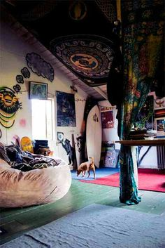 Love this room. Hippie but not TOO hippie .