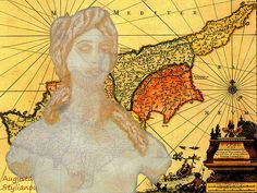 Ancient Cyprus Map And Aphrodite  Augusta Stylianou