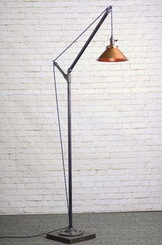 Modern Floor Lamp Industrial Floor Lamp by newwineoldbottles