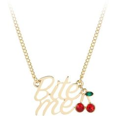 Bite Me Necklace ($21) ❤ liked on Polyvore featuring jewelry, necklaces, lobster clasp necklace, adjustable necklace, metal jewelry, chains jewelry and adjustable chain necklace