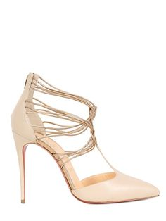 Christian Louboutin 100mm Confusa Kid Cage Pumps Source: http://www.closetonthego.com/e-shop-product/66216/christian-louboutin-100mm-confusa-kid-cage-pumps/ © Closet On The Go