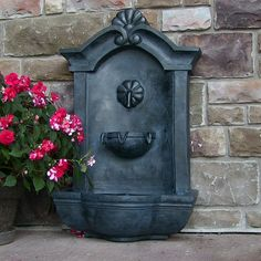 Beautiful wall fountain...perfect for any garden!