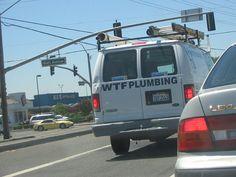 nice WTF Plumbing van on Watt Ave in Sacramento, CA
