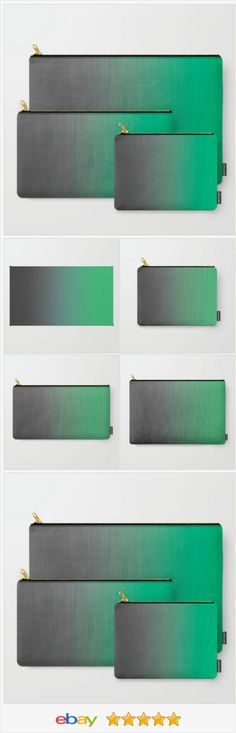 Carry All Pouches - 3 Sizes - Gray to Green Ombre - Made to Order | eBay
