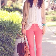 🎉HP🌟🎊Pink polka dot cropped jeans (jeggins) Very cute! Skinny capris. rue 21 Jeans Ankle & Cropped