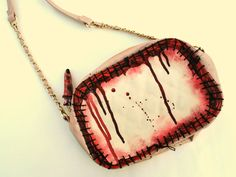Zombie flesh shoulder bag by NixxiRose on Etsy, $70.00 ..............A perfect bag for my outfit