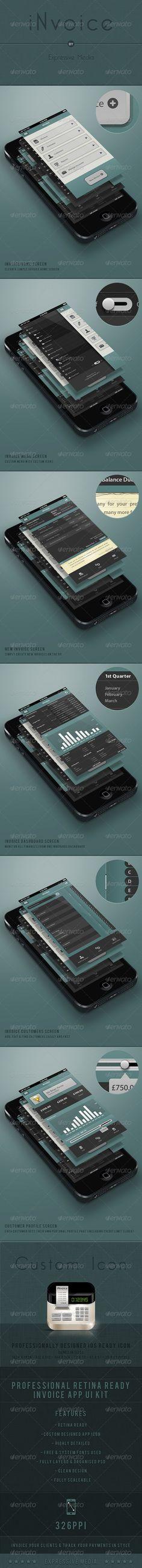 iNvoice Retina Mobile Interface