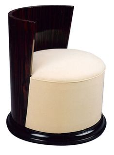 Art Deco Stool Macassar 1930's