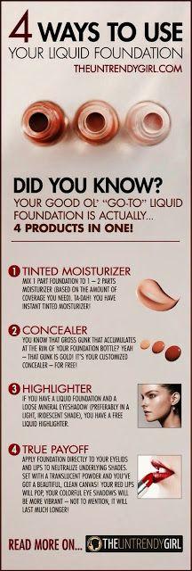 4 Ways to Use Your Liquid Foundation