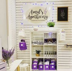 #market #boothdesign #boothdisplay #essentialoils #inspofinds Essential Oil Blends, Essential Oils, Craft Displays, Booth Design, Apothecary, Crafts, Craft Booth Displays, Manualidades, Pharmacy