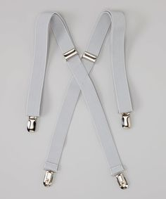 Look at this #zulilyfind! Fouger for Kids Light Gray Suspenders by Fouger for Kids #zulilyfinds