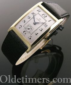 1920s 18ct gold rectangular vintage Omega watch (4295) Luxury Watches, Rolex Watches, Skeleton Watches, Vintage Omega, Art Deco Period, Steampunk Necklace, Steampunk Fashion, Vintage Watches, Fashion Watches