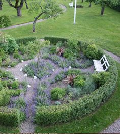 (Country Interior Scandinavia) I'm liking the idea of an enclosed, maybe circular, herb garden
